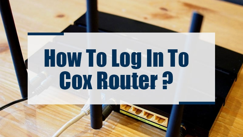 how to login to cox router